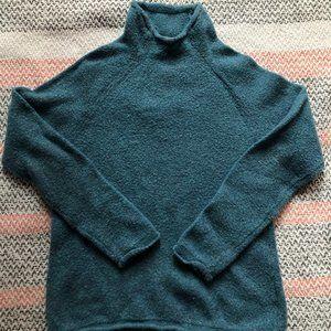 LLBean Turquoise Knit Turtleneck